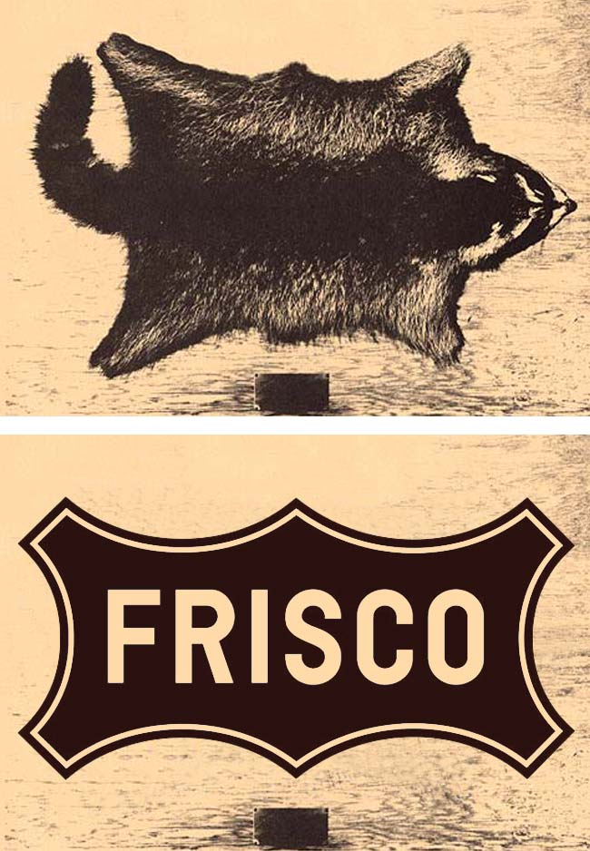 Frisco logo and raccoon skin inspiration