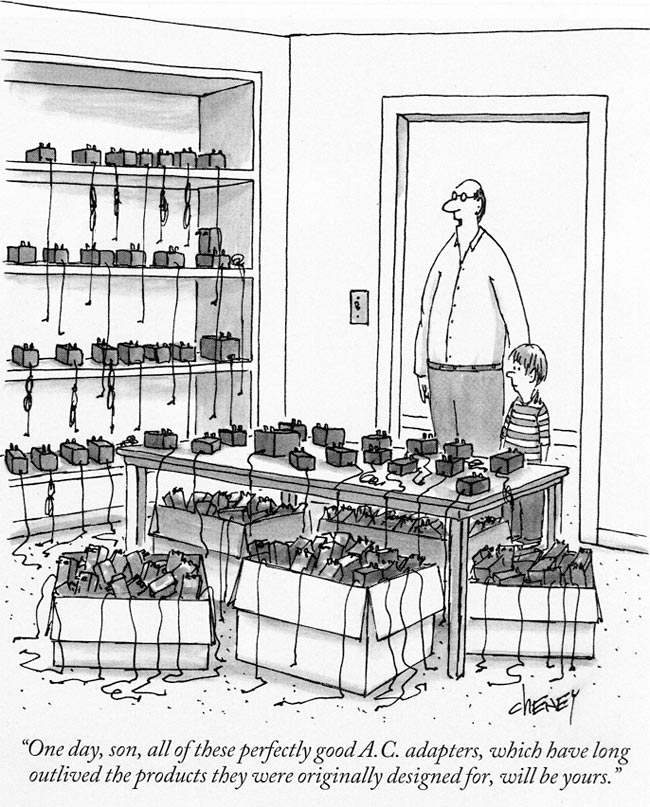 AC adapters cartoon