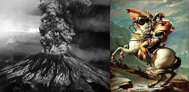Mt. St. Helens eruption - Napoleon Bonaparte by David