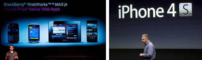 BlackBerry vs iPhone presentations