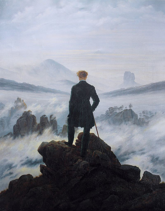 Caspar David Friedrich, Wanderer Above the Sea of Fog, 1818.