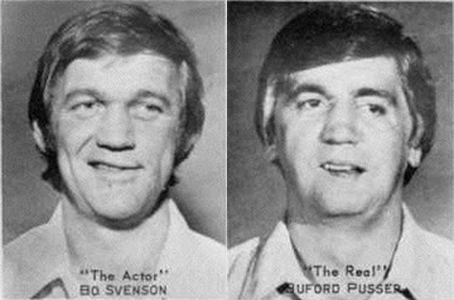 Bo Svensen as Buford Pusser and Buford Pusser as Buford Pusser