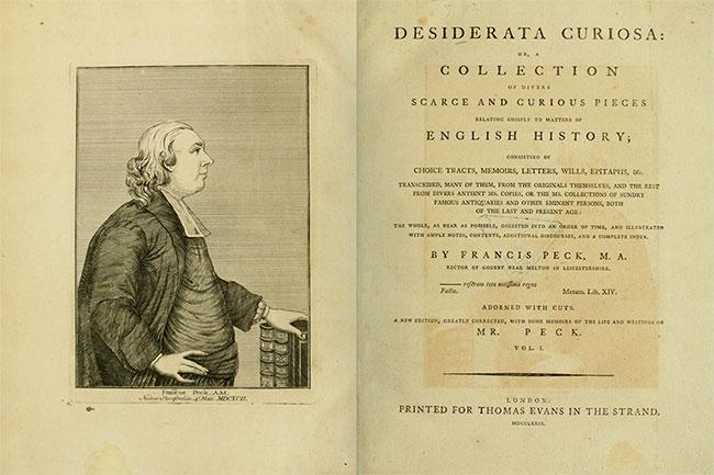 Francis Peck - Desiderata Curiosa