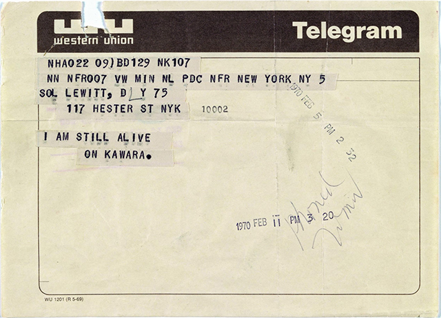 On-Kawara_Sol-Le-Witt-Telegram