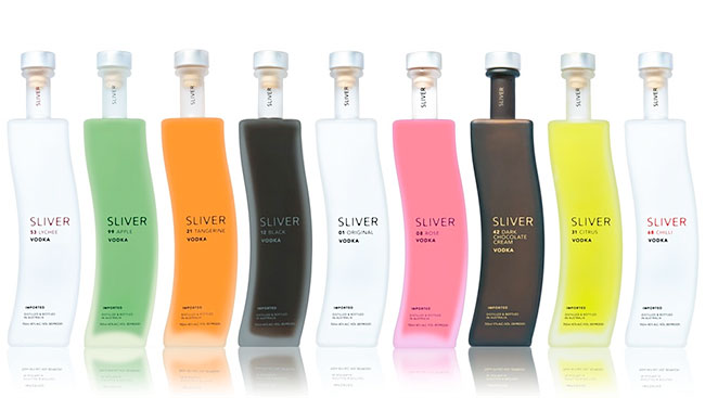 Sliver vodka bottles