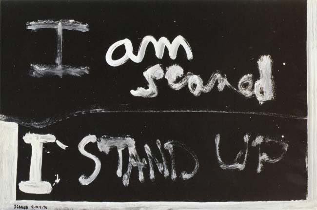 Colin McCahon, Scared, 1976