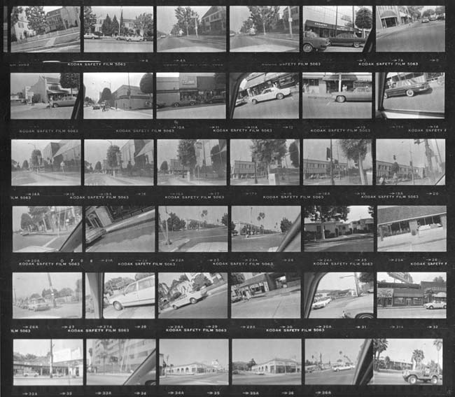 Garry Winogrand contact sheet 1982-83