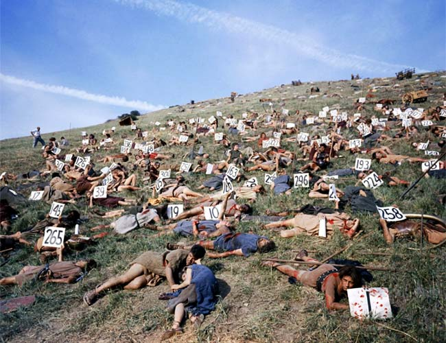 Extras on the set of Spartacus, 1959