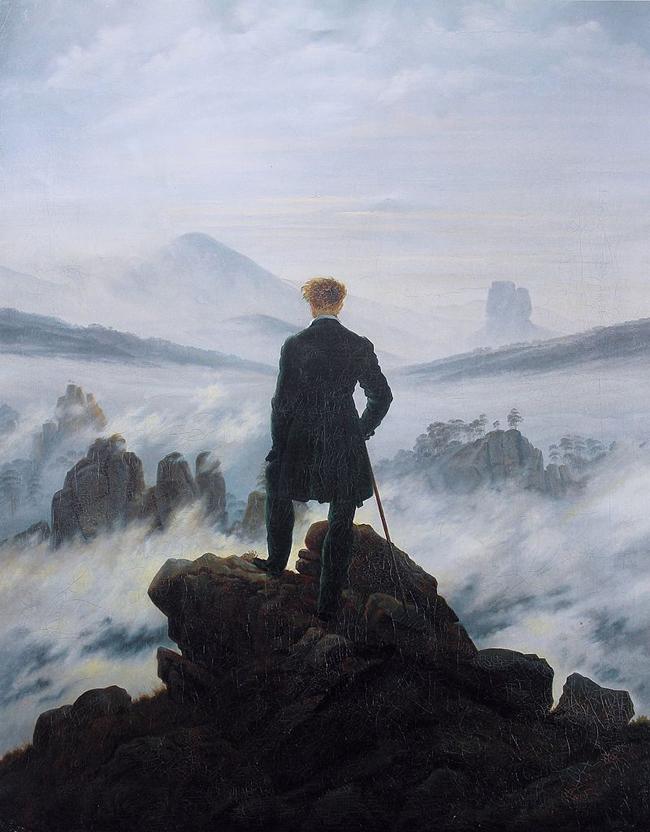 Caspar David Friedrich, Wanderer Above the Sea of Fog, 1818.
