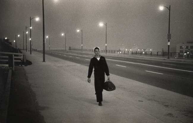 Garry Winogrand, Untitled Sailor on Street, 1950; At SFMOMA (San Francisco Museum of Modern Art)