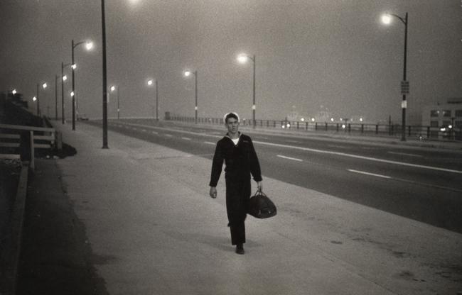 Garry Winogrand, Untitled Sailor on Street, 1950; At SFMOMA (San Francisco Museum of Modern Art)