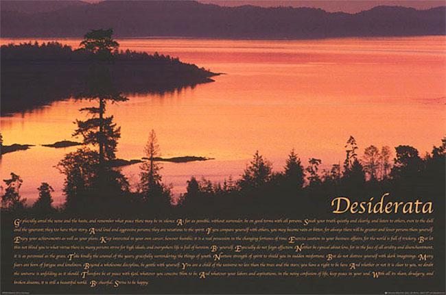 Desiderata - cliche inspirational poster