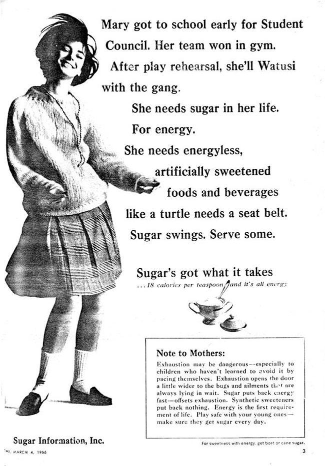 vintage sugar ad - energy