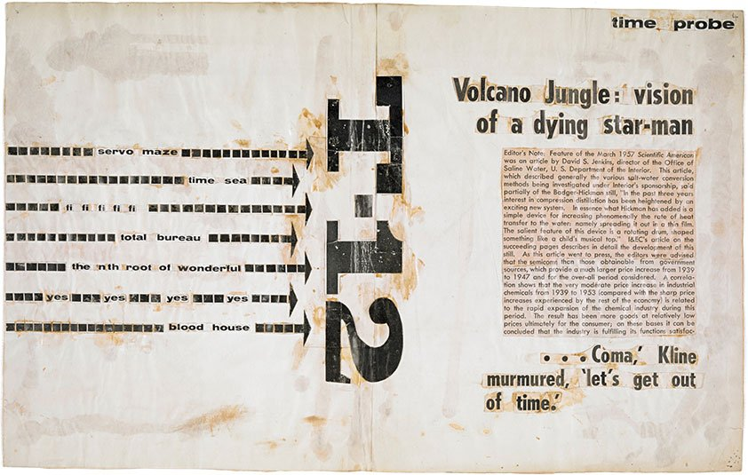 J. G. Ballard text collages