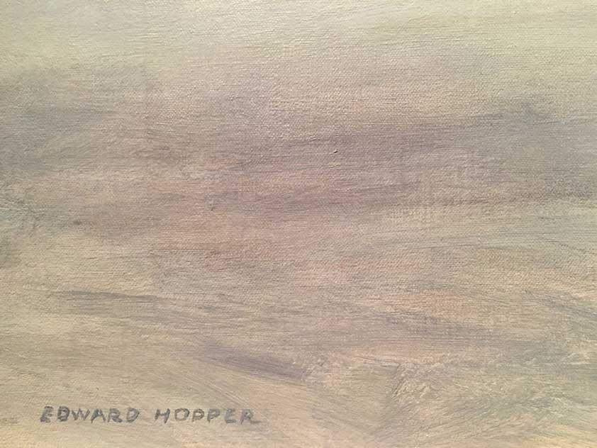 Edward Hopper signature 1950