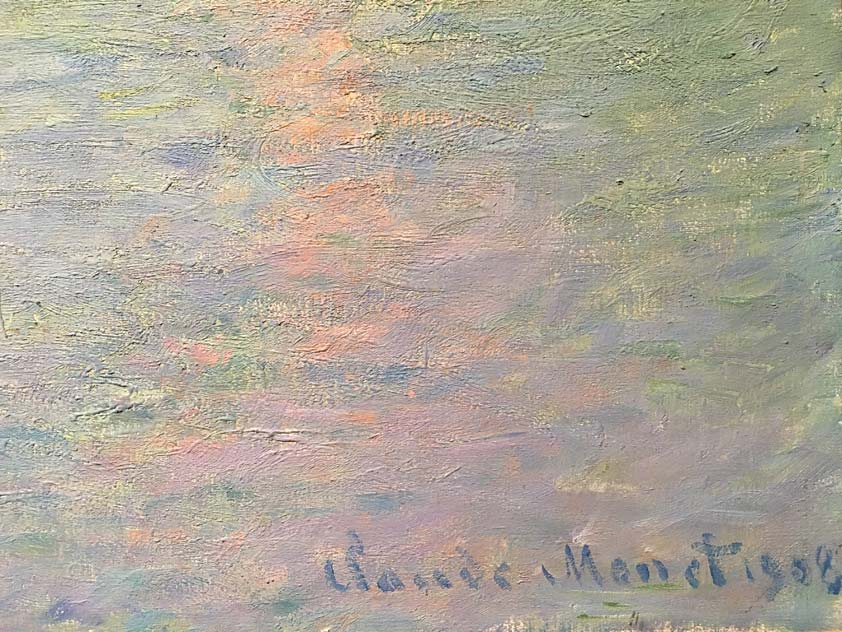 Claude Monet signature 1908